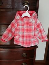 Girl's size 12M pink plaid coat in Aurora, Illinois