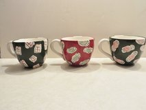 Large Eddie Bauer Home Green and Red Bowl Mugs-set in Plainfield, Illinois