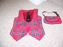 Girls Size Small Plaid Vest, Tie, and Purse in Elgin, Illinois
