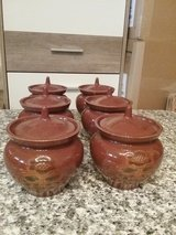 Pottery pots with lids in Ramstein, Germany