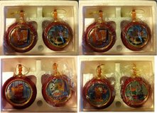 Garfield Heirloom Porcelain Christmas Ornaments - set of 8 in Bartlett, Illinois