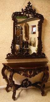 Mohagony Console and Mirror in Baumholder, GE