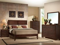 SOLID WOOD ESPRESSO QUEEN BEDFRAME (NEW)!! in Camp Pendleton, California