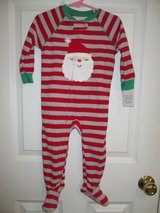 NEW! Carter's Just One You Christmas Santa Pajamas One Piece Footies 18 mos in Plainfield, Illinois