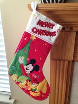 NEW MICKEY & PLUTO Christmas Holiday Large Stocking in Glendale Heights, Illinois