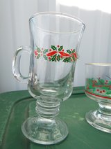 gold rimmed Christmas glasses in Alamogordo, New Mexico