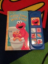Elmo can use the potty book in Fort Riley, Kansas