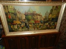"""1960's Chicago Molding company Picture """" Songs of Paris"""" in Oswego, Illinois"""