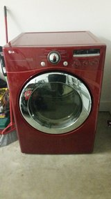 Lg cherry red gas dryer in Beaufort, South Carolina