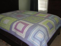 GIRLS SIZE QUEEN QUILT PATCHWORK BEDSPREAD in Camp Lejeune, North Carolina