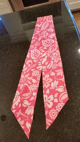 Pink Satin Scarf with White design in Naperville, Illinois