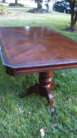 Wood Inlaid/ Glass Top  Dinning Table on Pedestals in Kingwood, Texas