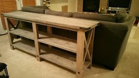 Rustic sofa/console table in Nellis AFB, Nevada