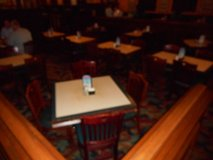 Assorted Size Green Trim Cream Insert Laminated Top tables W/Ped Bases in Chicago, Illinois