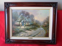 Thomas Kinkade Teacup Cottage Sweetheart Hideaways Lithograph on Canvas Framed in Conroe, Texas