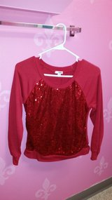 Red sequence sweater in Fort Irwin, California
