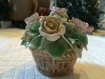 Capodimonte Porcelain  - flower basket in Beaufort, South Carolina