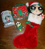 Powerpuff Girls Christmas Ornament Lot Buttercup Stocking +Mini Lunchbox Trevco & Enesco in Kingwood, Texas