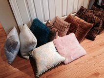 Variety of decorative pillows in Sandwich, Illinois