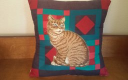 3D Cat Throw Pillow in Conroe, Texas