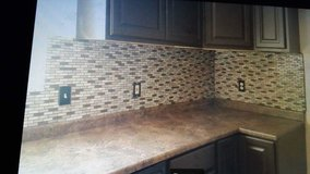Kitchen and Bath Back splash installed in Yucca Valley, California