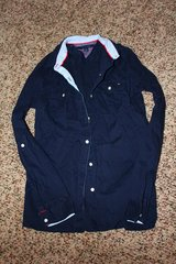 Tommy Hilfiger Navy Button Up Top Size S in Fort Leonard Wood, Missouri