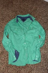 Tommy Hilfiger Green Button Up Top Size S in Fort Leonard Wood, Missouri