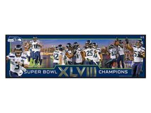 "SEATTLE SEAHAWKS SUPER BOWL XLVIII COMMEMORATIVE PLAQUE 30""x 9"" ** NEW ** in Fort Lewis, Washington"