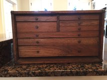 Vintage Solid Oak 8 Drawer Machinist Tool Chest Box Antique 1940's- Gerstner Era in Beaufort, South Carolina