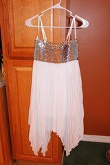 NWT Silver Sequins/White Pleated Party Dress in Fort Leonard Wood, Missouri