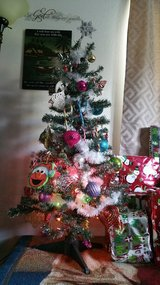 4 1/2 ' tree with light &  decorations! Already decorated! in Fort Lewis, Washington