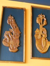Carved Wooden Plaques in Cherry Point, North Carolina