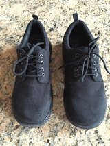 Boys Black Suede Shoes-Size 3 in Naperville, Illinois