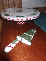 HOLIDAY  FOOTED CAKE PLATE AND SERVER in Cherry Point, North Carolina