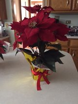 SILK POINSETTIA PLANT - BRAND NEW!  ONLY 3 Cranberry left! in Bolingbrook, Illinois