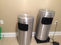Stainless steel commercial trash cans in Biloxi, Mississippi