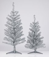220 Volt pre lit decoration Silver Christmas Tree with Glitters in Ramstein, Germany
