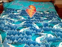 Brand New Handcrafted beautiful dolphin sunset ocean design bed quilt WOULD MAKE A GREA... in Lakenheath, UK