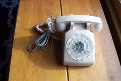 NEW BEIGE ROTARY DESK PHONE in Naperville, Illinois