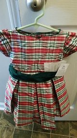 New / Red / Striped Silk Christmas Dress in Fort Campbell, Kentucky