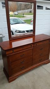Solid Wood / Basset / 8 Drawer Dresser & Mirror Set in Clarksville, Tennessee