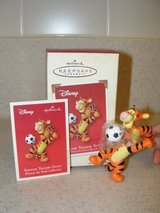"HALLMARK WINNIE THE POOH ""SOCCER TIGGER-STYLE"" 2003 CHRISTMAS ORNAMENT in Camp Lejeune, North Carolina"