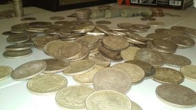 Pile of silver coins, Morgan, peace, quarters, half dollars etc! in Oceanside, California