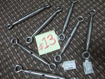 NEW STAINLESS EYE BOLT TURN BUCKLES (7 PIECES) in Okinawa, Japan