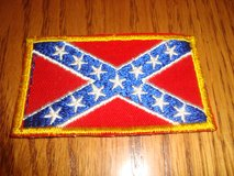 1970's Vintage Embroidered CONFEDERATE BATTLE FLAG Sew On PATCH 3 3/8 x 1 7/8 in Chicago, Illinois