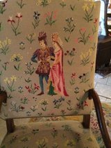 gorgeous stitched petit point arm chair in Ramstein, Germany
