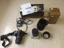 Nikon D3000 18-55mm VR kit with additional lens. in Minot AFB, North Dakota