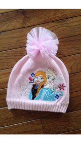 Disney Frozen ~ Disney Store ~ girl's pink winter hat with Anna and Elsa ~ small extra small 2 3 4 in Elgin, Illinois