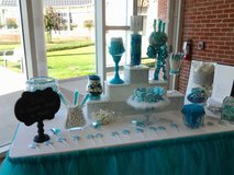 Wedding/ Party Candy Buffet Jars and glitter stand in Baytown, Texas