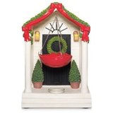 "YANKEE CANDLE ""Christmas Front Door"" Tart Warmer w/Lightup Front Porch Lights - NIB! in Bartlett, Illinois"